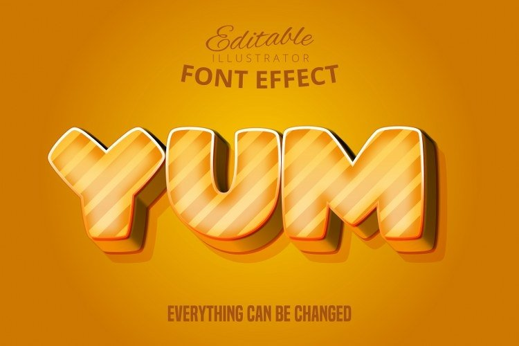 Yum text, editable text effect example image 1