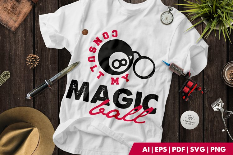 Tattoo SVG | Tattoo T-shirt | Magic Ball SVG | Halloween SVG example image 1