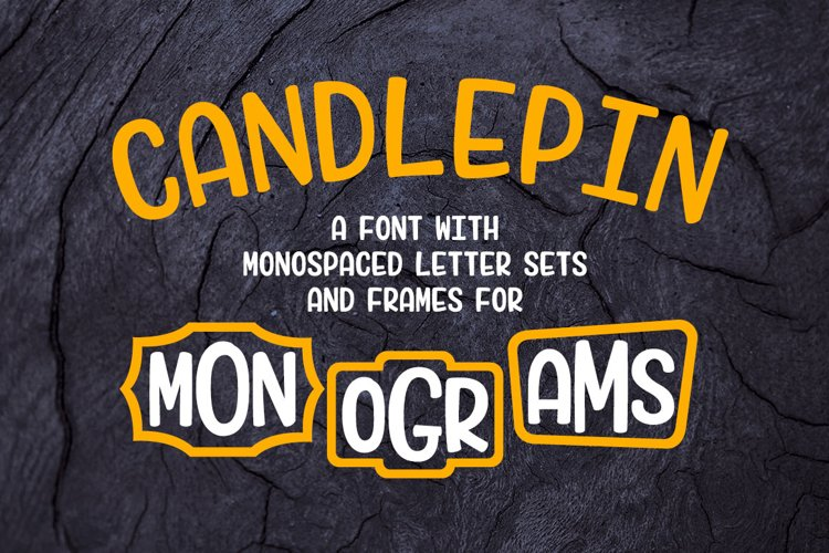 Candlepin monogram font: main image