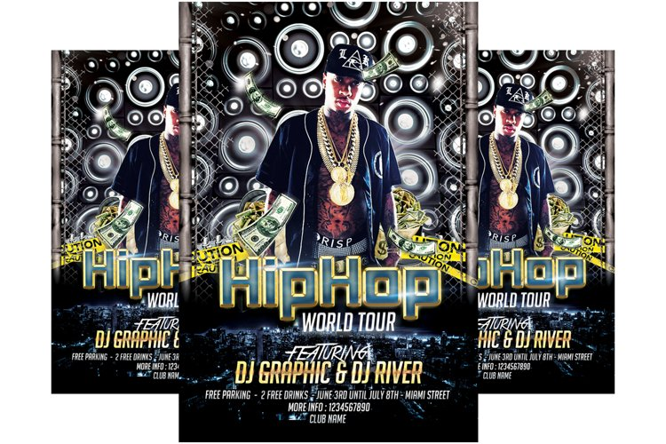 Hip Hop Tour Flyer Template