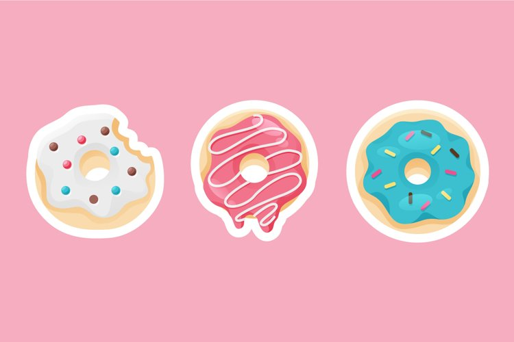 Donut Sticker Illustrations