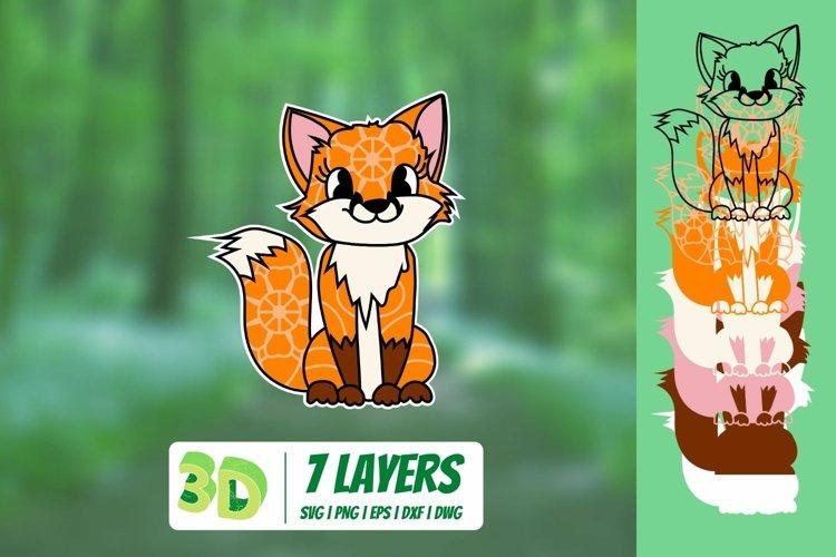 3D FOX SVG CUT FILE | Baby Animals Cricut | Mandala