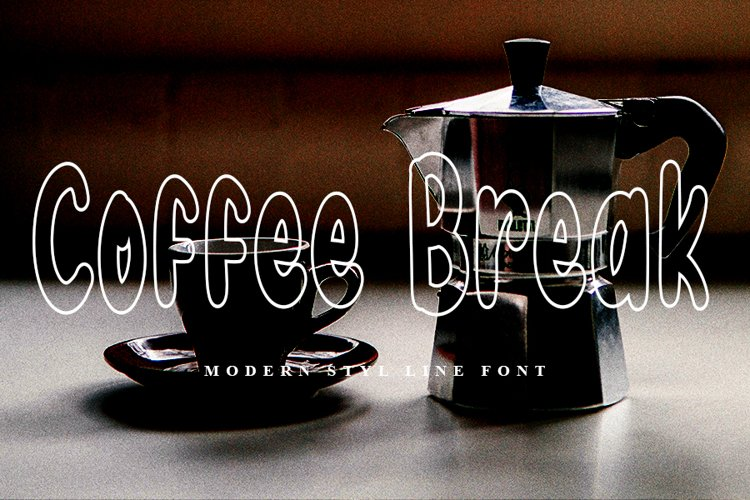 Coffee Break | Modern Line Font example image 1