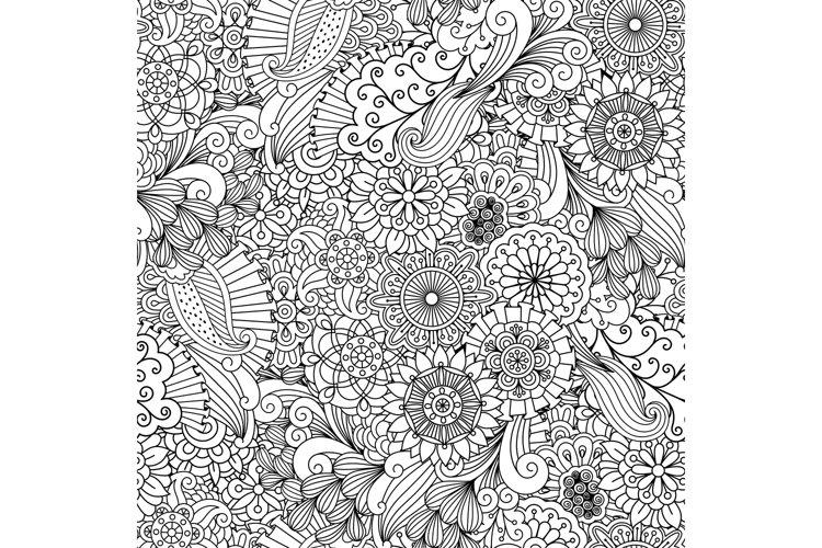 Decorative geometric background made of flowers example image 1