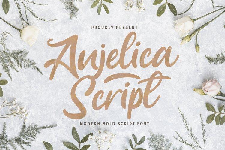 Anjelica Script - Bold Script Font example image 1