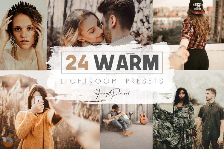 24 Warm Mobile & Desktop Lightroom Presets