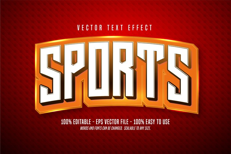 Sports editable text effect example image 1