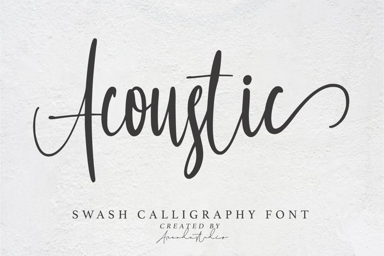 Acoustic - Swash Calligraphy Font example image 1