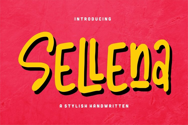 Sellena - A Stylish Handwritten Font example image 1