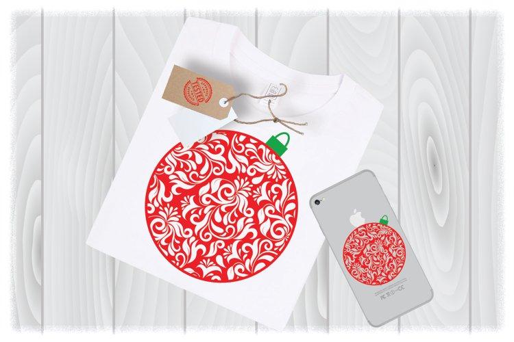 Christmas Ball Ornament SVG Files for Cricut Designs