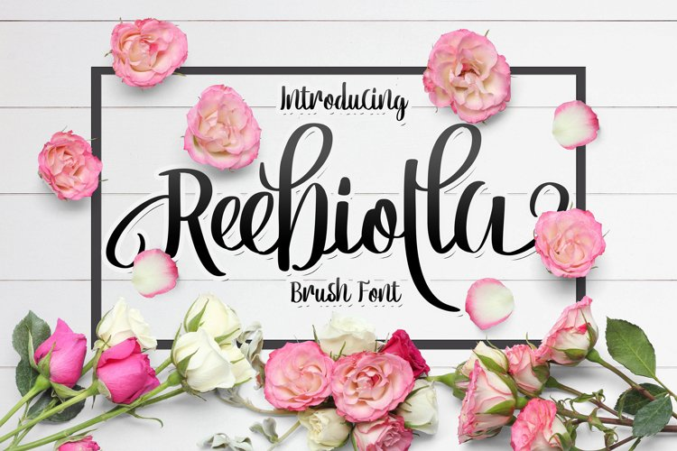 Web Font Reebiolla Brush Font example image 1