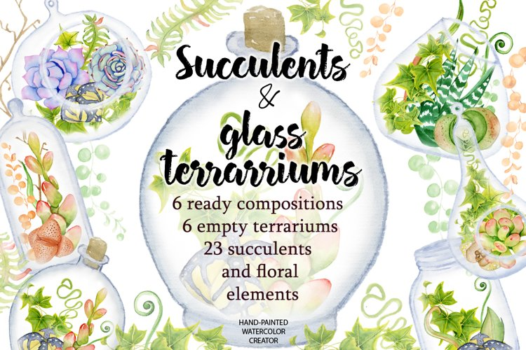 Succulents terrarium creator Vol.2 example image 1