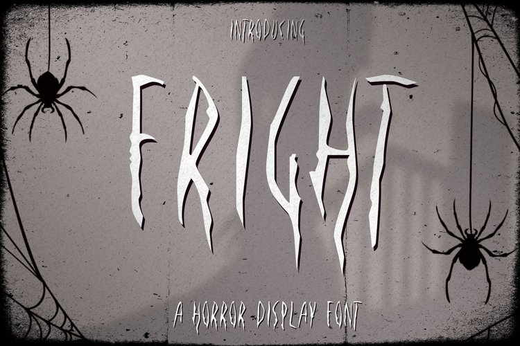Fright - A Horror Display Font