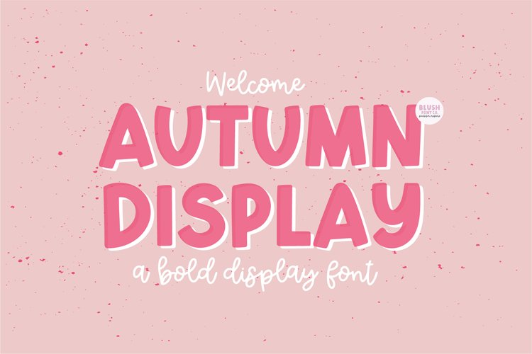 AUTUMN DISPLAY Bold Font example image 1