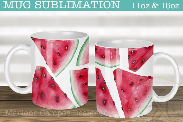 Watermelon Sublimation Designs for Mugs /11oz and 15