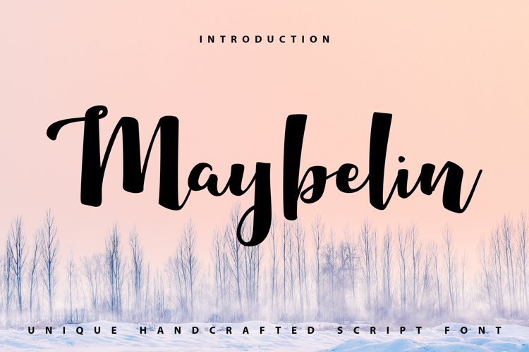 Maybelin   Unique Handcrafted Script Font example image 1