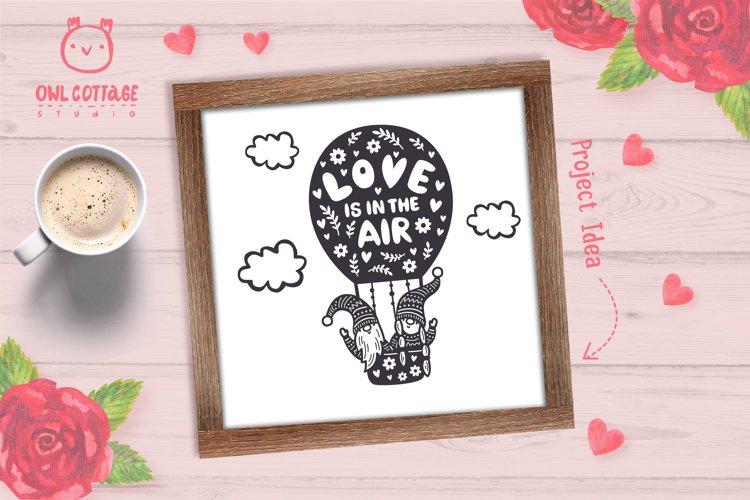 Valentine Gnomes svg , Gnome Couple, Valentine Air Ballon example 5