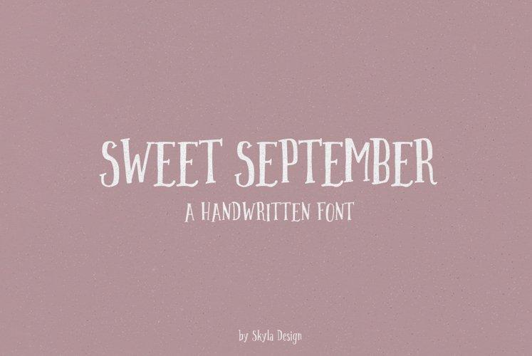 Handwritten font - Sweet September example image 1