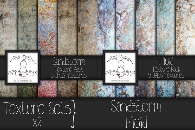Texture Set x2. Sandstorm and Fluid. example image 1