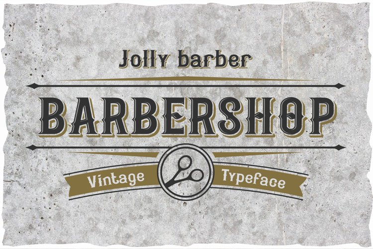 Jolly Barber. Vintage typeface example image 1