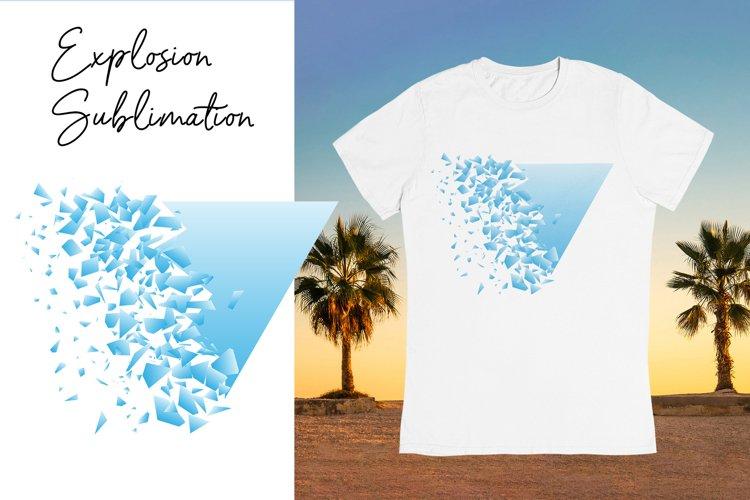 Explosion Sublimation background. Summer T shirts design.