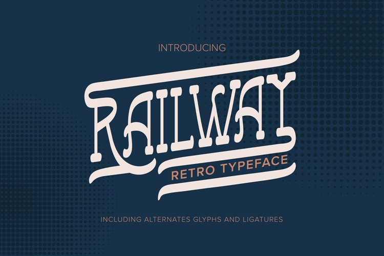 Railway   Retro Typeface example image 1