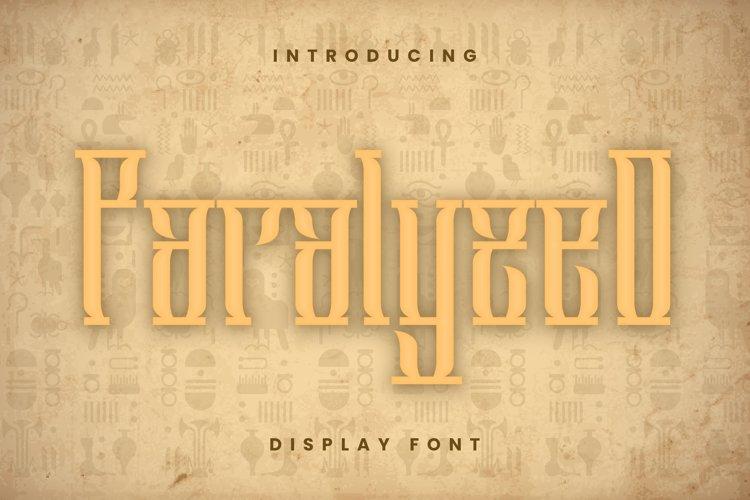 Paralyzed Font example image 1