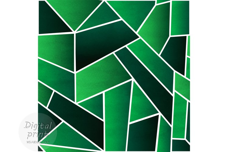 Abstract green digital paper Green abstract seamless pattern example image 1