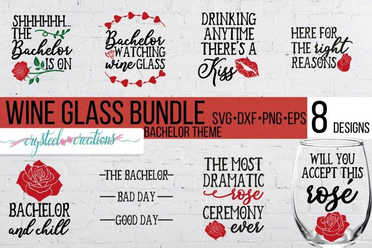 Bachelor Wine Bundle SVG, DXF, PNG, EPS example image 1