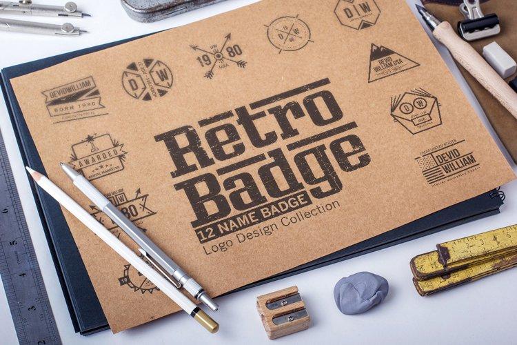 Retro Badge Logo Collection Bundle example image 1