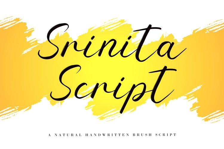 Srinita Script example image 1