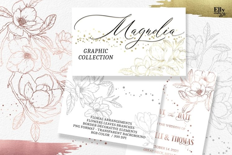 Magnolia Flowers Graphic Collection example image 1