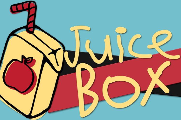 Juice Box - A Kid Drawn Font example image 1