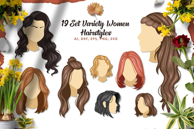 Hairstyle Illustration Pack example image 1