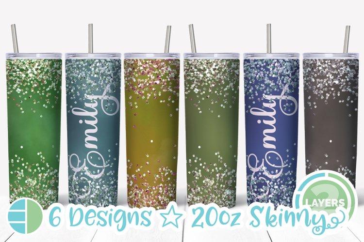Skinny Tumbler Sublimation Design - Confetti - Customizable example image 1
