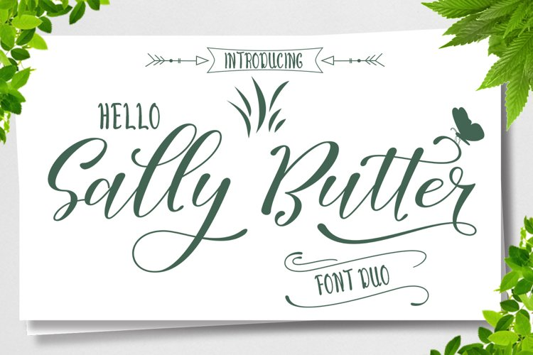 Sally Butter-Font Duo example image 1