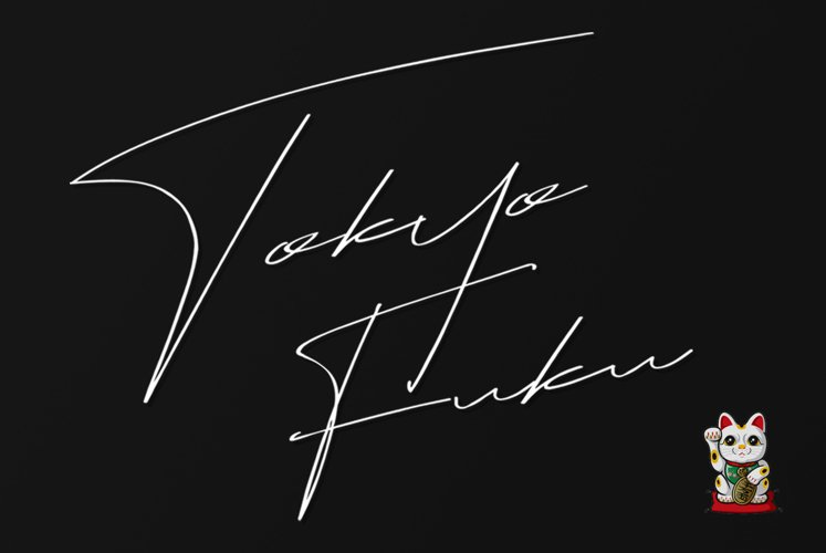 Tokyo Fuku Signature Font With Swash example image 1