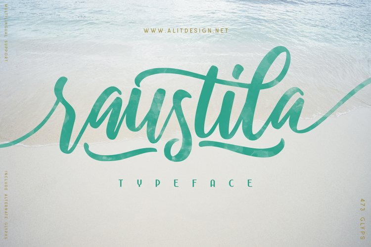 Raustila font example image 1