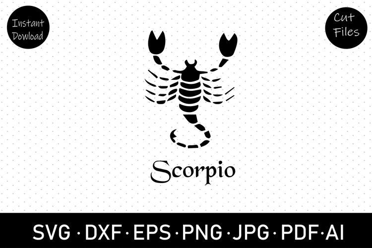 Scorpio zodiac sign svg, dxf, cut file, clip art,sublimation example image 1