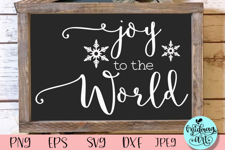 Joy to the world sign svg, christmas sign example image 1