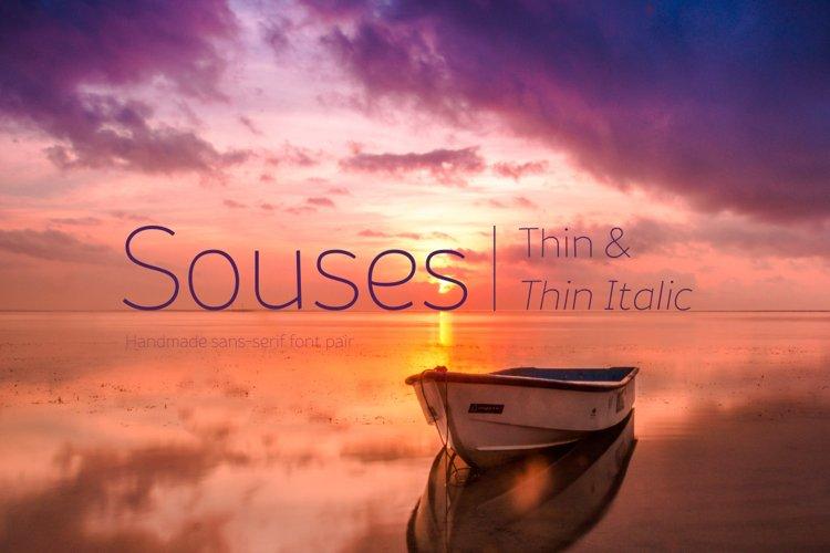 Souses — Thin & Thin Italic example image 1