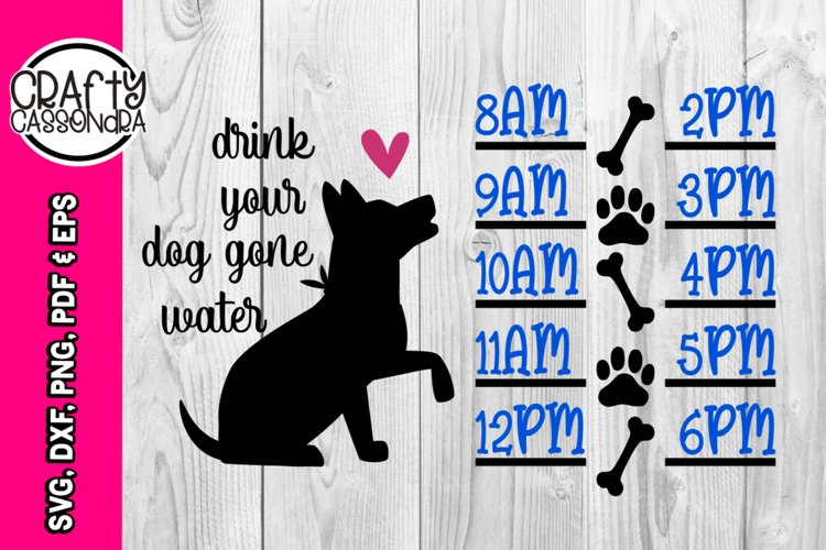 water bottle tracker - Dog silhouette - time line tracker