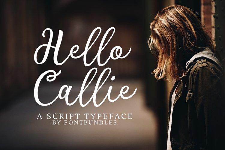 Web Font Hello Callie example image 1