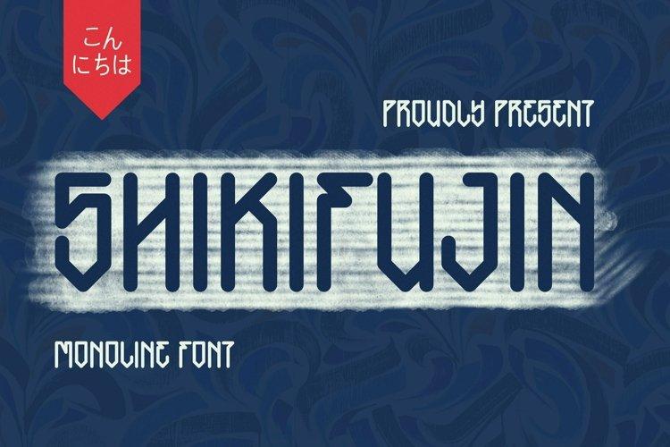Web Font SHIKIFUJIN Font example image 1