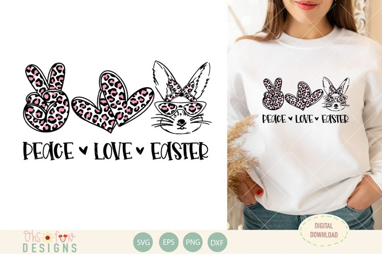 Peace love Easter| bunny animal print | SVG