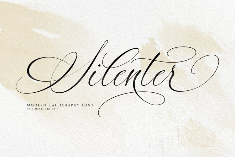 Silenter // Modern Calligraphy Font example image 1