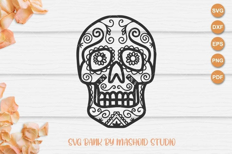 Sugar Skull SVG Files example image 1