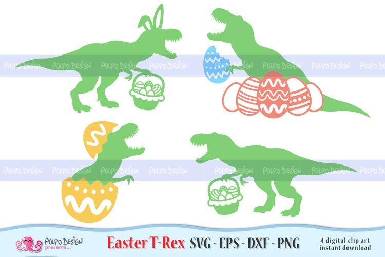 Easter T-Rex SVG, Eps, Dxf, Png