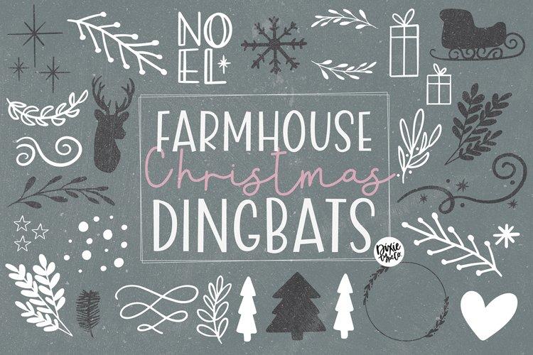 Farmhouse Christmas Dingbats example image 1