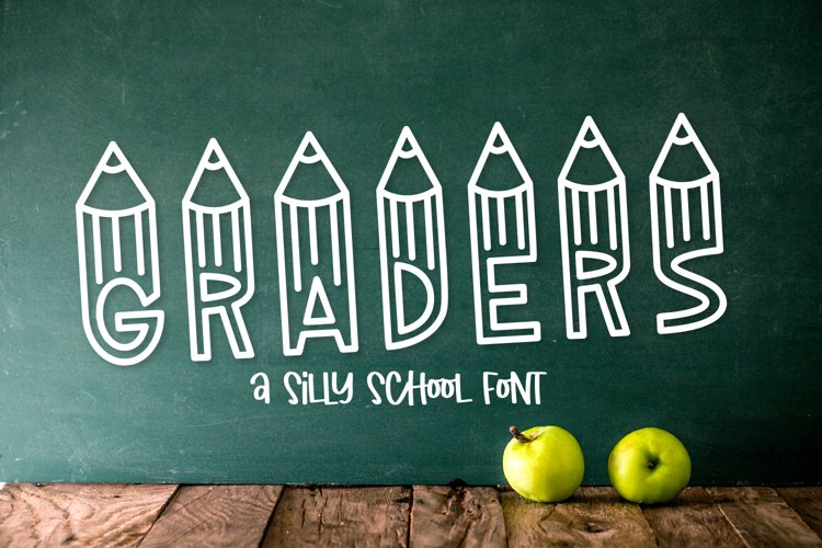 Graders - A School Font Perfect For Teachers & Students! example image 1